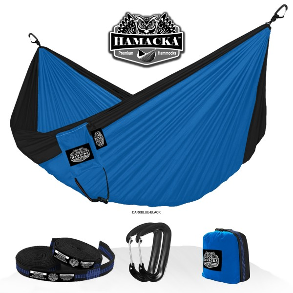 TRAVEL HAMMOCK SET (DARK BLUE-BLACK)