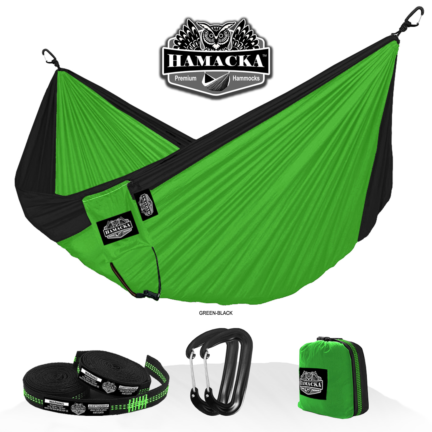 TRAVEL HAMMOCK SET (GREEN)
