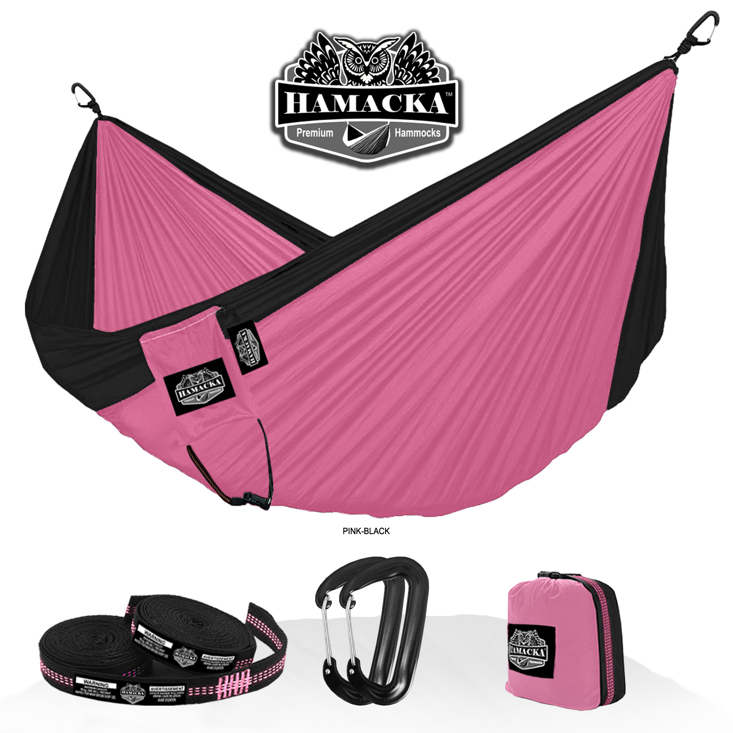 TRAVEL HAMMOCK SET (PINK)