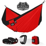 TRAVEL HAMMOCK SET (RED-BLACK)