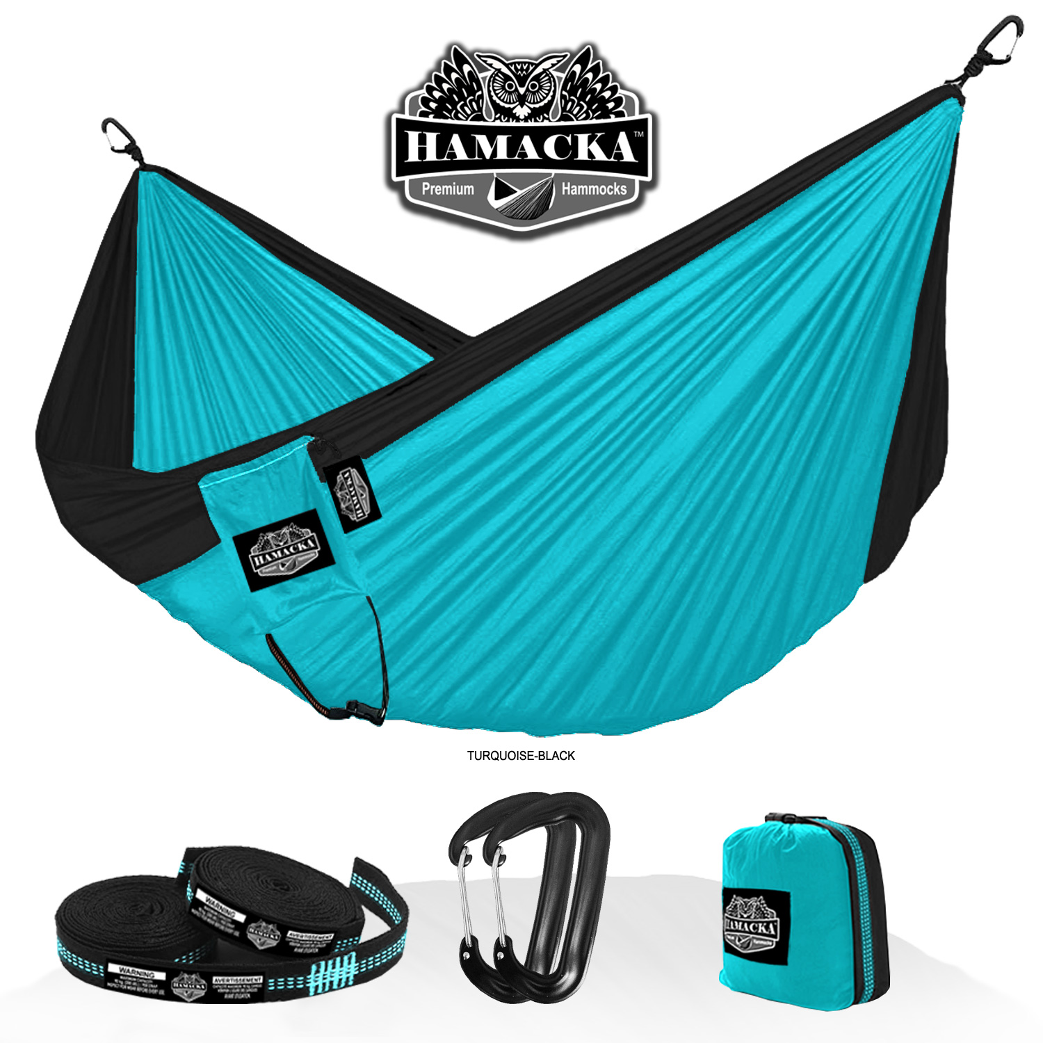 TRAVEL HAMMOCK SET (TURQUOISE)