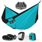 TRAVEL HAMMOCK SET (TURQUOISE-BLACK)